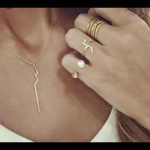 Stella & Dot Pearl Spike Ring